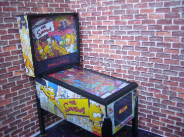 Simpsons Pinball Party 1/12th Scale Miniature Pinball Table Model